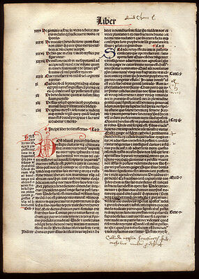 The City of God 1494 Incunable Leaf St Augustine of Hippo Commentary Christian