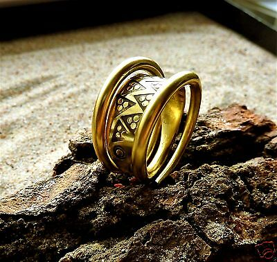 Ancient Viking  Bronze Twisted Ring (1080) .