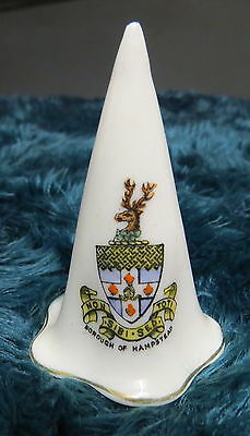 Vintage Arcadian China Crested China Wizards Hat - Borough Of Hampstead
