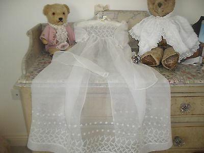 Lovely Fine Embroidered Vintage Christening Gown.