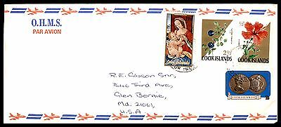 1973 Cook Islands Ohms Air Mail Christmas Flowers Fdc First Day Cover