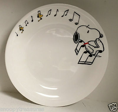 Snoopy & Woodstock Ceramic Plate - Musical Notes