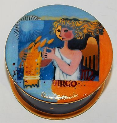 "Trinket Box For Someone Born Under ""virgo"" - From ""goebel"" By Rosina Wachmeister"