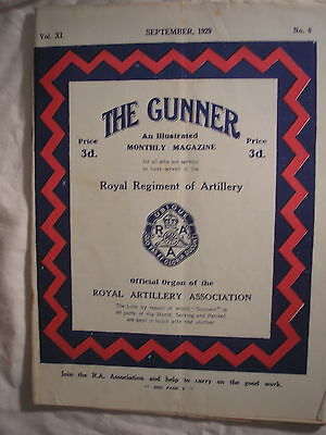 Royal Regiment of Artillery Journal 1929 British Army Military History Gunners