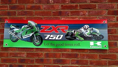 Br44 Kawasaki Zxr750 H2 Zxr-7 Ninja Banner Garage Workshop Sign