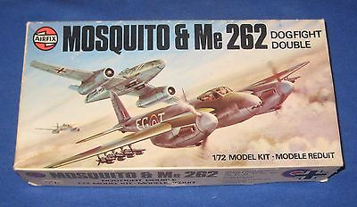 Vintage Airfix DogFight Doubles  Mosquito & Me 262 1:72 Scale Model Kit