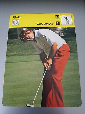 GOLF - FUZZY ZOLLER / MASTERS CHAMPION - Sportscaster Photo Fact Card