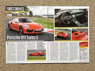 2016 PORSCHE 911 Turbo S - First Drive Article