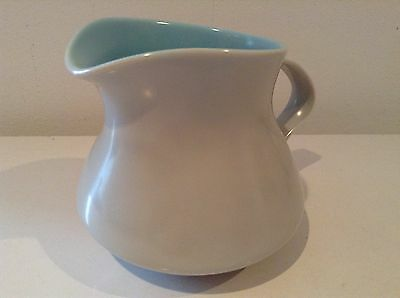Two Tone Poole Pottery Jug, Blue And Grey