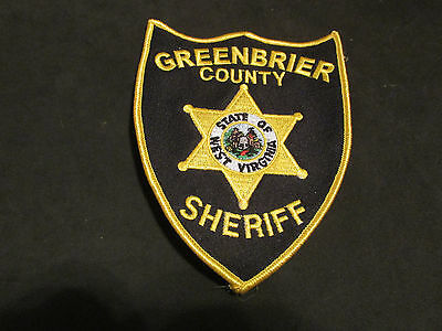 Greenbrier County West Virginia Sheriff Police Patch