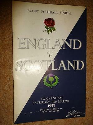 england scotland march 1955 rugby union programme
