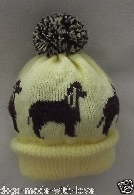 WATER SPANIEL dog NEW Knitted LEMON pompom bobble ADULT size HAT