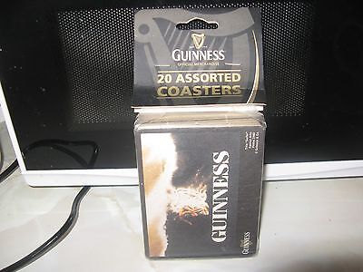 20 Assorted Guinness Coasters Sealed Pack