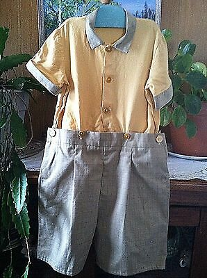 Vintage 1930's Little Boys Shorts Shirt PRINCE GEORGE  never worn chest chest 28