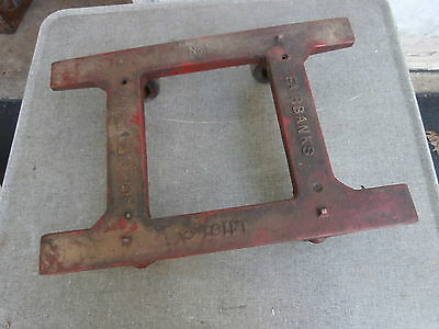Antique Cast Malleable Iron Cart Dolly Fairbanks #1  Stationary Engine Hit Miss