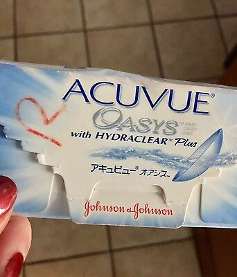Acuvue Oasys w/ Hydraclear Plus       D -5.00        (2 New Lenses)