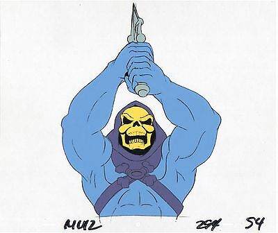 He-Man Masters of the universe Skeletor Production Animation Art Cell + Draw 2*