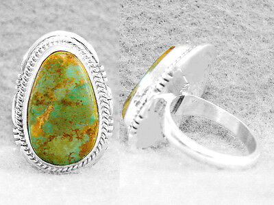 Navajo Ring Size 7½ Turquoise Manassa Sterling Silver Native American Z