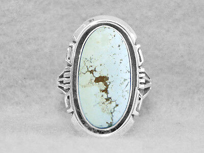 Navajo Ring Size 9 Turquoise Dry Creek Sterling Silver Native American Indian  Z