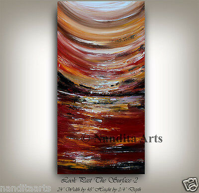 "Modern Original home decor painting on canvas 48"" large artwork wall hanging"