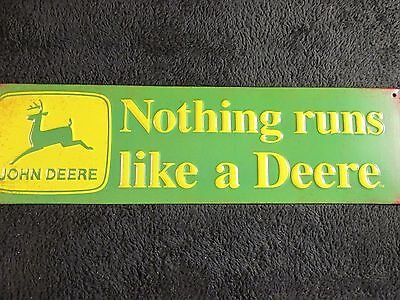 "John Deere TIN SIGN Retro"" Metal Home Decor  Store Shop Market Farm Tractor Mens"