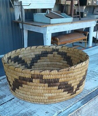 Papago Indian Basket..LARGE SIZE..Add to your collection! Great piece