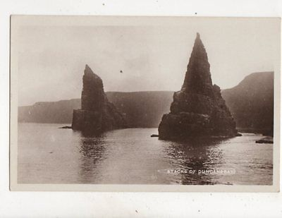 Stacks Of Duncansby Caithness Vintage RP Postcard 351b