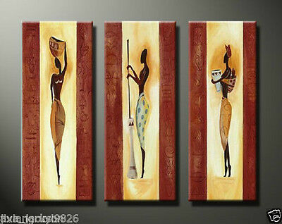 MODERN ABSTRACT CANVAS ART WALL DECOR OIL PAINTING-African Art (no Framed)