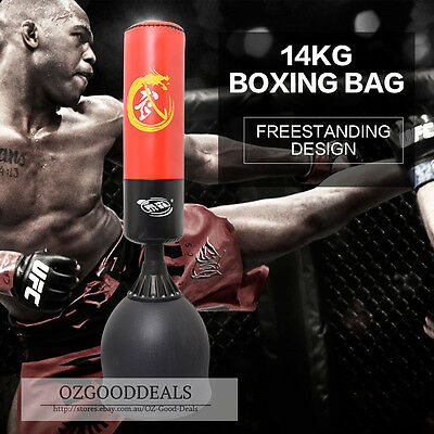 Freestanding Boxing Stand Home Gym Dummy Target 14kg Punching Bag 168cm #12