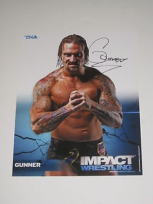 Tna Gunner Hand Signed 8X10 Promo With Coa