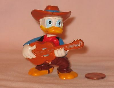 Disney's Cowboy Donald Duck Playing Guitar PVC Figure; By Bullyland Germany