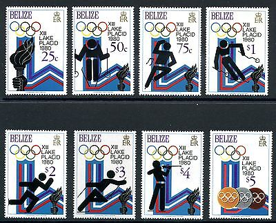Belize MiNr. 443-50 A postfrisch/ MNH Olympiade 1980 Lake Placid (Oly40