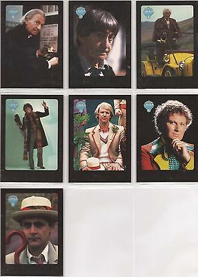 Doctor Who Series 4 - ERROR Set of 7 Chase Cards Missing Foil Stamps #i1-7