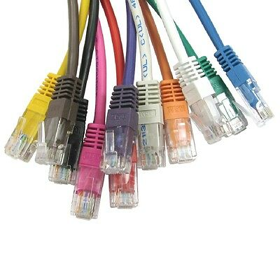Cat5e Network Cable RJ45 Ethernet Patch Lead 26AWG PURE FULL COPPER Wholesale