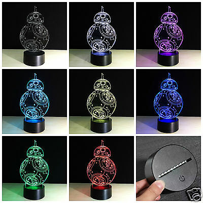 Star Wars BB8 Hologram LED Night Light Table Light Wholesale Job lots 40 units