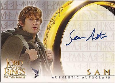 "Lord of the Rings The Two Towers - Sean Astin ""Sam"" Auto / Autograph Card"