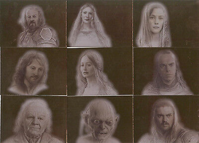 """Lord of the Rings Masterpieces II - """"Bronze Parallel"""" Set of 9 Chase Cards #1-9"""