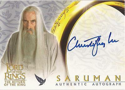 "Lord of The Rings ROTK Christopher Lee ""Saruman"" Auto / Autograph Card"