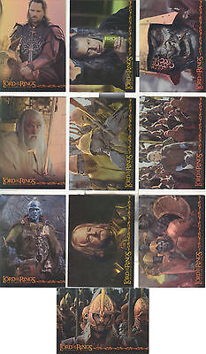 Lord of the Rings Return of the King: Hobby Japan set of 10 Prismatic Foil Cards