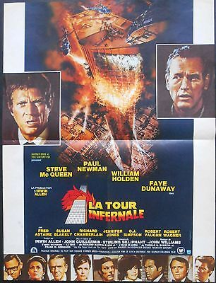 TOWERING INFERNO 24x32 French 1974 Paul NEWMAN