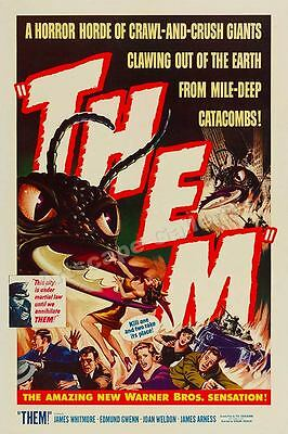 "1950s ""Them"" Classic Ant Monster Movie Poster - 20x30"
