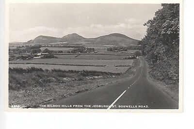 The Eildon Hills from the A68 St Boswells Road, Roxburghshire