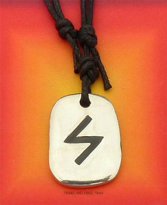 SOWULO Rune Pendant adjustable Necklace 2sides THE SUN Sowilo Sigel Futhark