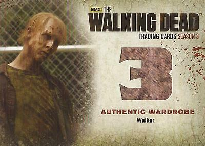 "Walking Dead Season 3 Part 2 - W2 ""Walker's"" Wardrobe Card"