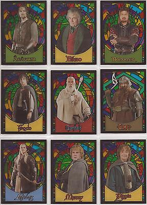 "Lord of the Rings Evolution - ""Stained Glass"" Set of 10 Chase Cards S1-10"