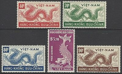 VIETNAM 1952 'Day of Wandering Souls' airmail/air set of 5, mint MH, SG#82-86