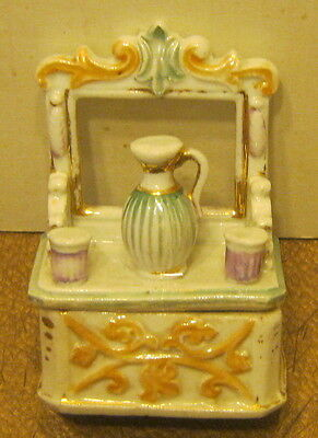 Vintage Porcelain RING BOX Victorian Vanity SUPER Details EXCELLENT Condition!!