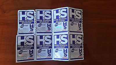 miway mississauga high school bus tickets 8x