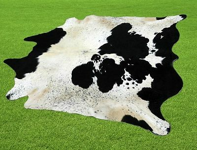 """New Cowhide Rugs Area Cow Skin Leather  (53""""x 61"""") Cow hide LWP-9615"""