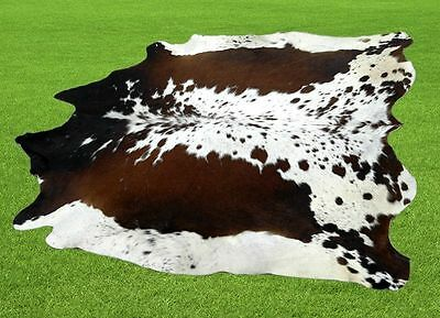 """New Cowhide Rugs Area Cow Skin Leather  (65""""x 60"""") Cow hide LWP-9603"""